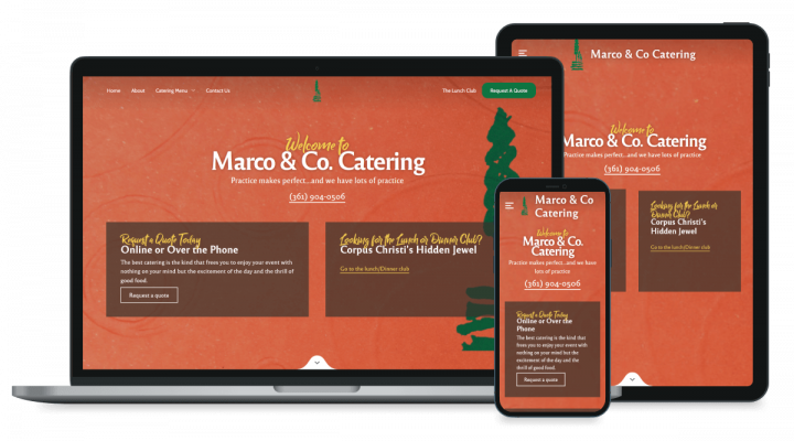 Marco and Co website mockup